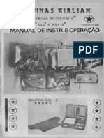 Máquina Kirlian 6SL-E Manual