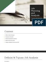 2_Job Planning and Analysis