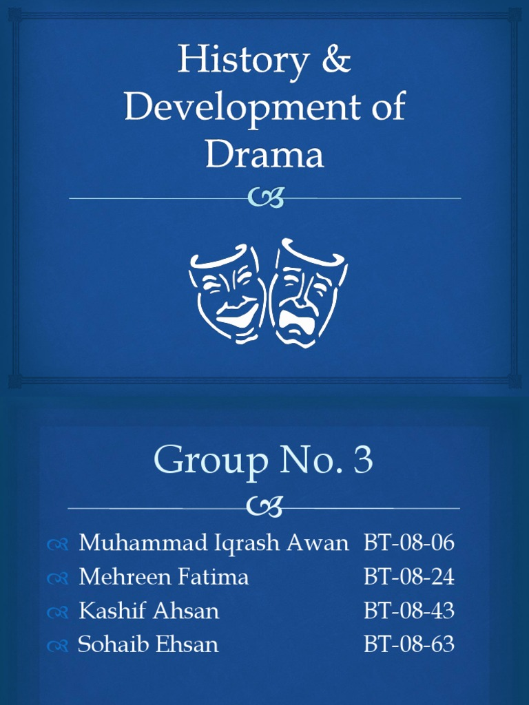 origin and development of the drama History of modern drama blog contact me downloads the history of modern drama modern drama started late 1800s to early 1900s  ø development of and aid to realism .