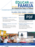 PLAN CANARIO DE FORMACIÓN PARA LA FAMILIA - EDUCAR EN FAMILIA - LAS GALLETAS