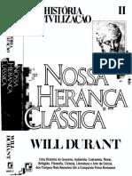 2 - Will Durant - A História Da Civilização - Vol. 02 - Nossa Herança Clássica