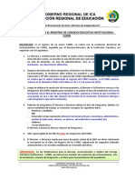 Orientaciona para adecuado registro CONEI