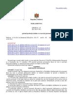 Lege - protecția datelor personale