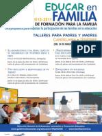 PLAN CANARIO DE FORMACIÓN PARA LA FAMILIA - EDUCAR EN FAMILIA - CANDELARIA