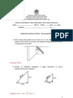 Exercicios de Trigonometria 1