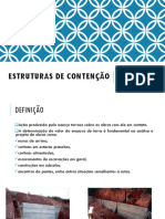 ESTRUTURAS DE CONTENÇÃO EMPUXO DE TERRA