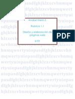 Rubrica 1.1 Paginas Web