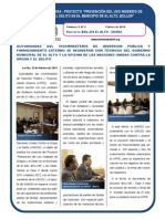 Proyecto BOL/J39 - El Alto UNODC Boletín Nº 2-2011