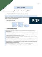 Syllabus Soporte en Hardware y Software