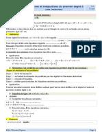 4.Equations et inéquations du premier degré à une inconnue