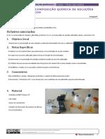 Al 1.5. a Cor e a Composição Química de Soluções Com Iões Metálicos - Continuação