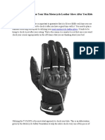 Men Motorcycle Leather Glove
