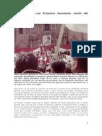 Homenaje al mártir aprista Francisco Sarmiento