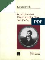 Gásser, L. Estudios Sobre Fernando Sor