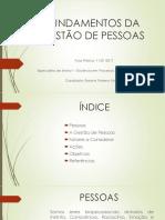 FUNDAMENTOS DA GESTÃO DE PESSOAS - Apresentação