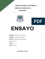 ENSAYO DE LIDERAZGO