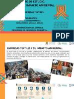 Exposicion proyecto de estudio para la evaluacion de impacto ambiental