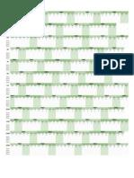 Template Calendário Anual - 2021