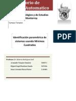 Identificación Paramétrica de una Planta de Primer Orden por Mínimos Cuadrados