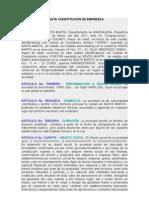 MINUTA CONSTITUCION DE EMPRESAS