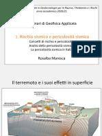 Seminario 1 Rischio Pericolosita Sismica Maresca 2020