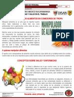 BOLETIN No. 01 Manipuladores Alimentos