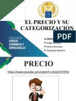 EL PRECIO Y SU CATEGORIZACION #1