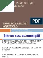 DIREITO REAL DE AQUISIÇÃO 2020