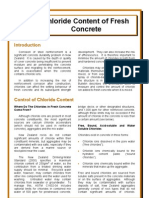 chloride content of fresh concrete