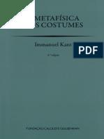 KANT, Immanuel - A Metafísica Dos Costumes, GULBENKIAN
