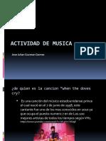 Actividad de musica