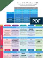 Plan Semanal 3-7 Mayo Aprende en Casa primaria 2021