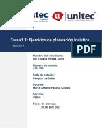 Tarea1.1 Ejercicios de planeación logística