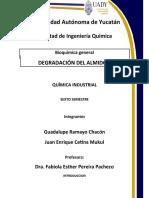 DEGRADACION DEL ALMIDON