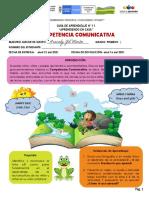 GUIA N° 11  COMPETENCIA COMUNICATIVA