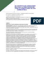 MODELO CONTRATO CONDICIONES UNIFORMES PARA LA PRESTACIÓN DEL SERVICIO PÚBLICO DOMICILIARIO DE GAS COMBUSTIBLE
