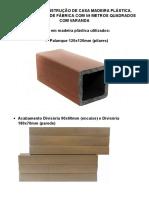 MANUAL DE CONSTRUÇÃO DE CASA MADEIRA PLÁSTICA