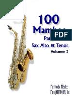 100 Mambos Para Sax ALTO & TENOR