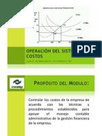 Operación del sistema de costos