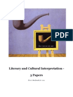 Literary and Cultural Interpretation - 3 Papers