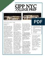 KIPP NYCCP MARCH Newsletter (Spanish)