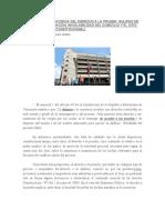 CONSIDERACIONES ACERCA DEL DERECHO                                                                  A LA       PRUEBA