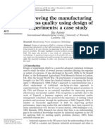 Improving Quality With Experimental Design