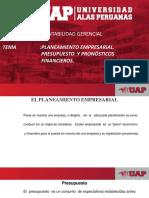 CLASE 4 PLANEAMIENTO EMPRESARIAL-PRESUPUESTO Y PRONOSTICO FINANCIERO