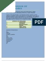 JERARQUIA DE OPERACIONES