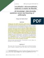Saberes Encruzilhados - Racismo Epistêmico e Ensino de Filosofia
