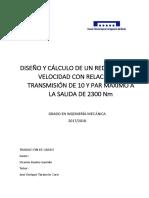Benito - Diseño y Cálculo de Un Reductor de Velocidad Con Relación de Transmisión 10 y Par Máximo...