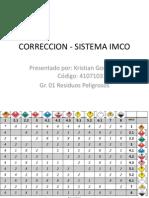 SISTEMA INCO - CORRECION