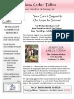 Kitchen newsletter