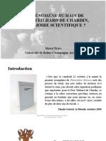 Le Phénomène Humain de Pierre Teilhard de Chardin
